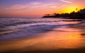 Обои heisler park, laguna beach, sunset