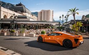 Обои Monaco, ST1, Zenvo, гиперкар, orange, hypercar, оранжевый, Monte Carlo