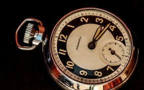 Картинка металл, фон, стрелки, часы, циферблат, карманные, Ingersoll