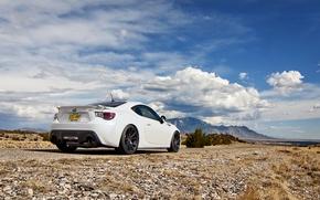 Обои небо, облака, природа, Subaru, белая, white, субару, brz