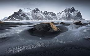 Картинка горы, берег, Исландия