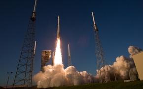 Обои космос, ракета, старт, Atlas V