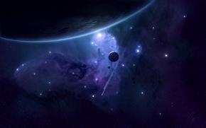 Обои Планеты, Корабли, Planets, Stars, Space, Spacecrafts