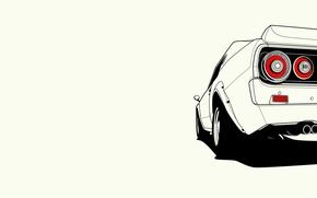 Картинка Nissan, ниссан, Skyline, rear, скайлайн, C110