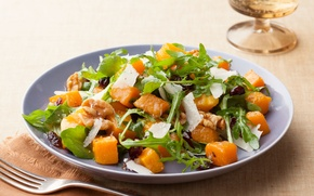 Обои еда, блюдо, салат, Salad, Squash, сгуаш, Butternut
