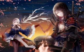 Картинка девушки, арт, pixiv fantasia, sa'yuki