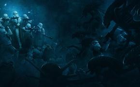 Картинка Star Wars, Aliens, 501st Legion: Vader's Fist VS Space Cockroaches, Guillem H. Pongiluppi