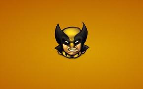 Обои Росомаха, Логан, минимализм, Comics, люди икс, x-men, Wolverine, злость, Marvel