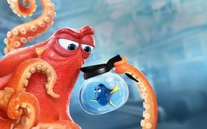 Картинка Fish, Orange, Blue, Water, Underwater, Family, year, Ocean, Sea, EXCLUSIVE, Animation, Octopus, Walt Disney Pictures, …