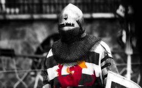 Картинка доспехи, воин, шлем, рыцарь, кольчуга