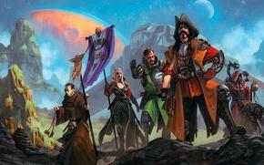 Картинка камни, люди, планета, робот, арт, андроид, Охотники на ведьм, Адептус Механикус, Экклезиархия, Инквизиция, Warhammer 40K, …