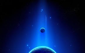 Обои космос, свет, планета