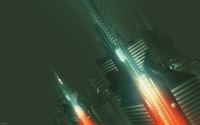Обои city, AMPLIFIER404, abstract, future