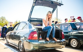 Картинка машина, Авто, блондинка, Lada, auto, Лада, Priora, ВАЗ, БПАН, Приора, Без Посадки Авто Нет