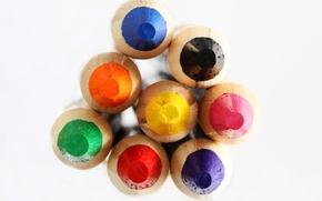 Картинка краски, цвет, карандаши, рисование, грифель