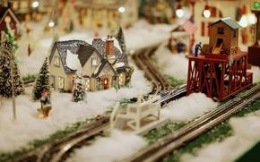 Картинка модель, игрушки, минимализм, железная дорога