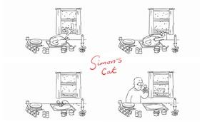 Кот Саймона, simon's cat, мульт, индейка, рождество обои
