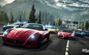 Картинка Дорога, Горы, Ferrari, Race, Пейзаж, Enzo, Group, 458 Italia, F12 Berlinetta, Need For Speed : …