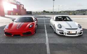 Картинка 997, Porsche, Ferrari, red, 360, Carrera S, 3.8
