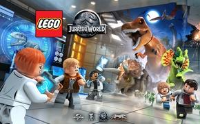 Картинка T-Rex, videogame, Jurassic, Jurassic Park, Jurassic World, Owen Grady, Indominus Rex, LEGO® Jurassic World™, Lego …