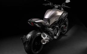 Картинка Мотоцикл, Ducati, Diavel, Titanium