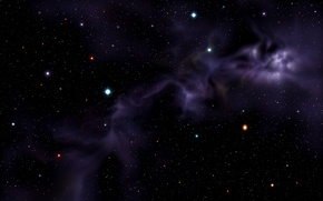 Картинка туманность, Хаббл, фиолетовая