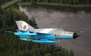 Картинка истребитель, многоцелевой, МиГ-21
