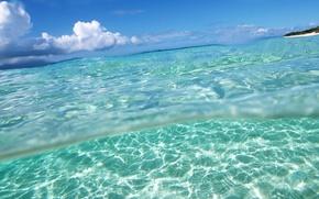 Обои небо, вода, Ласковое море