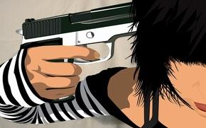Обои оружие, депрессия, Вектор, пистолет