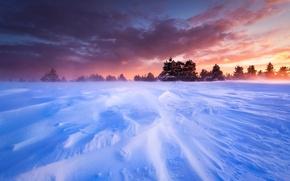 Обои франция, прованс, плато, равнина, снег