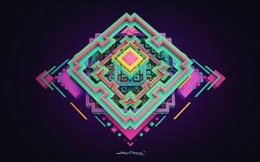 Картинка абстракция, фигура, квадрат, ромб, tranquility, lacza