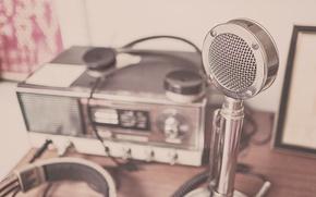 Картинка стиль, ретро, радио, микрофон, метал, old, радиола