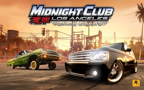 Картинка lowrider, range rover, tuning, los angeles, chevrolet impala, stance, rockstar, midnight club