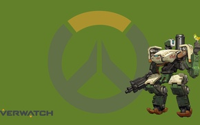 Картинка Blizzard, Wallpaper, Game, Bastion, Overwatch