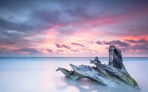 Картинка sea, ocean, sunrise, wave, caribbean