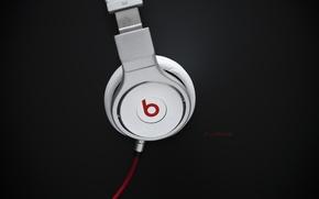 Обои музыка, надпись, music, наушники, лого, провод, logo, слова, headphones, 1920x1200, words, бренд, brand, lettering, beats ...