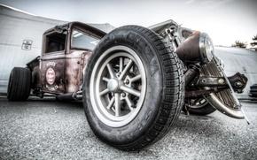 Картинка car, машина, мощь, Hot, классика, Rod, старичок