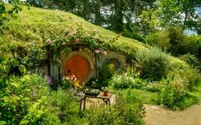 Картинка Зелень, Цветы, Природа, Трава, Сад, Nature, Grass, Green, Flowers, Хоббит, Hobbit