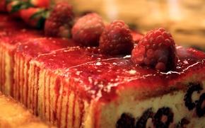 Картинка красный, еда, клубника, торт, пирожное, сладкое, рулет