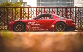 Обои mazda rx7, car, tuning, rx 7, red