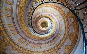 Картинка дом, спираль, лестница, перила