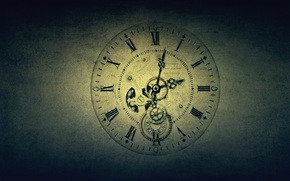 Картинка стиль, механизм, часы, time, hour-hand, mechanism, watch, details, texture, время, 1920x1200, текстура, часовая стрелка, style, ...