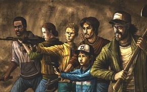 Картинка Игра, Кенни, Арт, Art, The Walking Dead, Ходячие мертвецы, Клементина, Season 2, Clementine