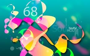 Картинка Дизайн, Черный, Pink, Желтый, Музыка, Сердце, Неон, Зеленый, Стиль, Серый, Оранжевый, Обои, Розовый, Orange, Sound, …