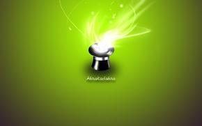 Картинка зеленый, магия, Шляпа
