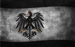 Обои флаг, орёл, флаги, германия, королевство, империя, konigreich, бранденбург, volke, deutschland, пруссия, brandenburg, preussen, reich, koenigreich, ...
