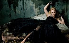 Обои стена, черный, платье, матрац