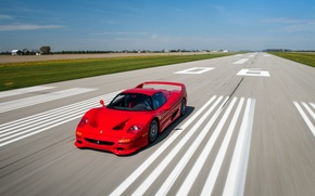 Обои red, феррари, скорость, Ferrari, speed, F50, мчится, car, авто