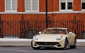 Картинка Ferrari, building, Berlinetta, F12, brick