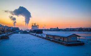 Картинка Зима, Дым, Санк-Петербург